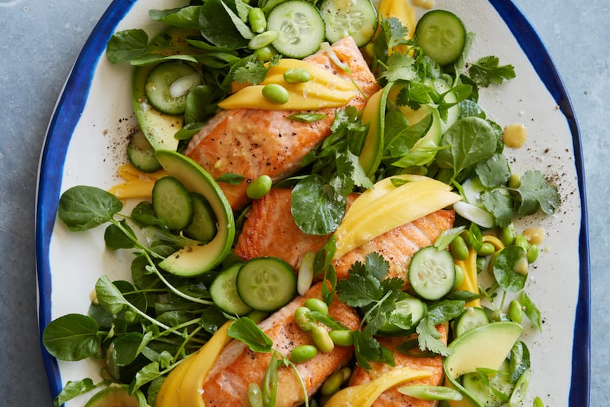 Loaded Sesame Ginger Salmon Salad