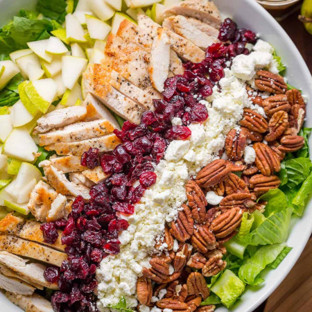 Autumn Chopped Chicken Salad